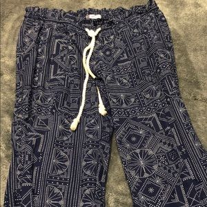 Roxy tribal print pants